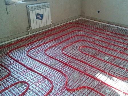 теплый пол + радиаторы