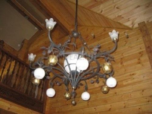 освещение в деревянном доме